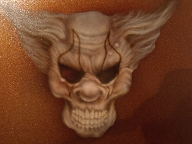 Clown and Skull Artwork